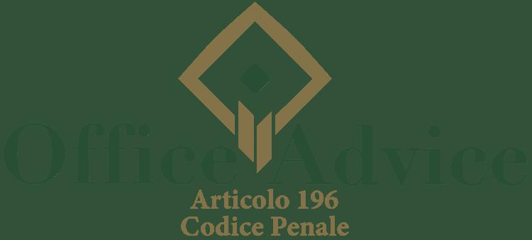 Articolo 196 - Codice Penale