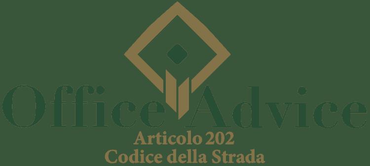Articolo 202 - Codice della Strada
