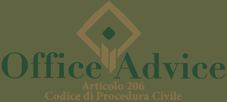 Articolo 206 - Codice di Procedura Civile