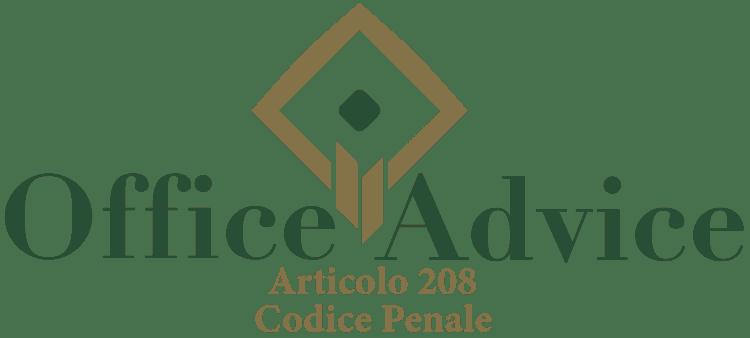 Articolo 208 - Codice Penale