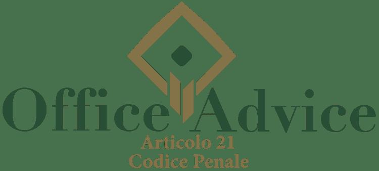 Articolo 21 - Codice Penale