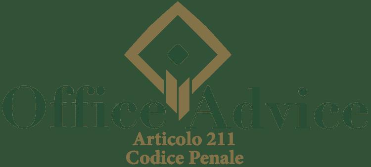 Articolo 211 - Codice Penale