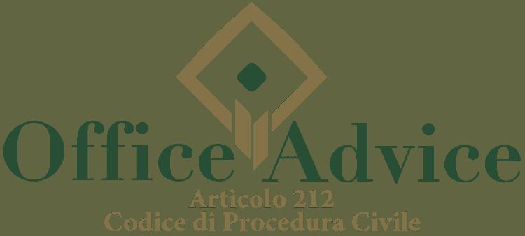 Articolo 212 - Codice di Procedura Civile
