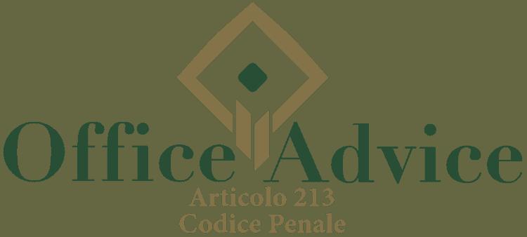 Articolo 213 - Codice Penale