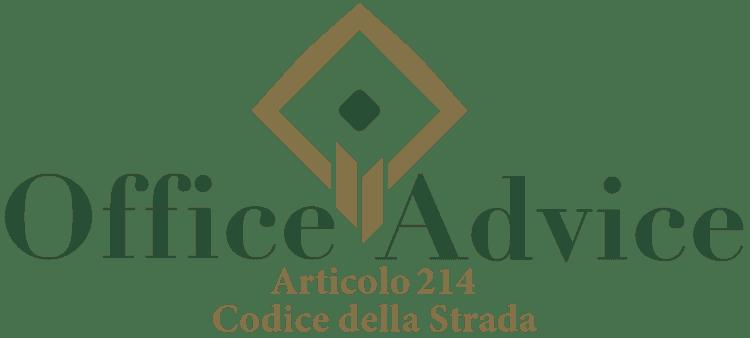 Articolo 214 - Codice della Strada