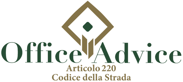 Articolo 220 - Codice della Strada