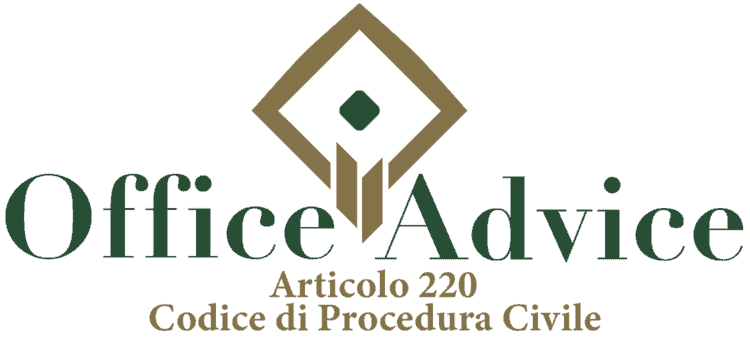 Articolo 220 - Codice di Procedura Civile