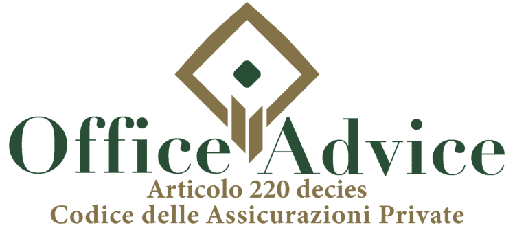 Articolo 220 decies - Codice delle assicurazioni private