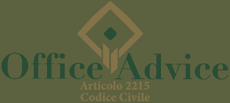 Articolo 2215 - Codice Civile