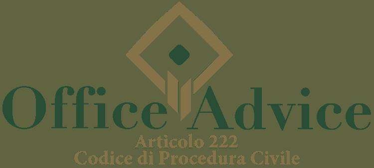 Articolo 222 - Codice di Procedura Civile
