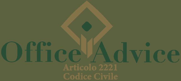 Articolo 2221 - Codice Civile