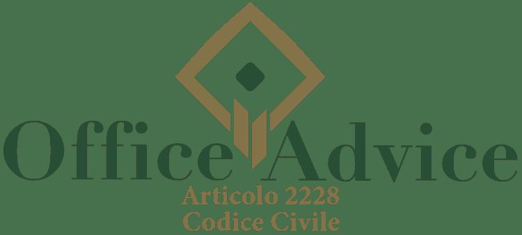 Articolo 2228 - Codice Civile
