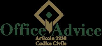 Articolo 2230 - codice civile