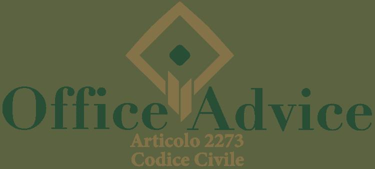 Articolo 2273 - Codice Civile