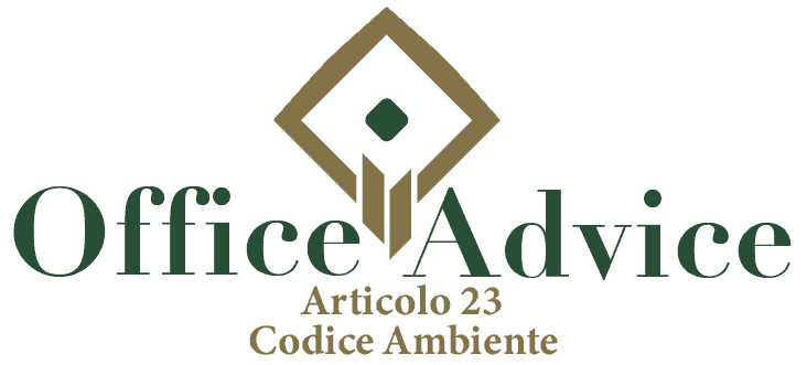 Art. 23 - Codice ambiente