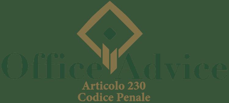 Articolo 230 - Codice Penale