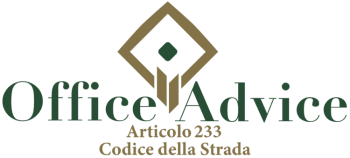 Articolo 233 - Codice della Strada