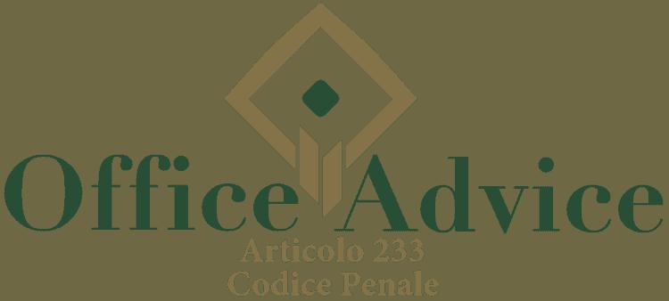 Articolo 233 - Codice Penale