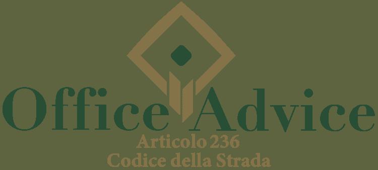 Articolo 236 - Codice della Strada
