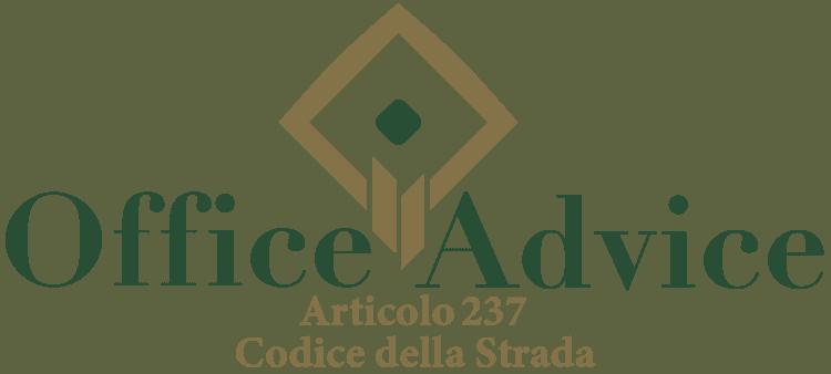 Articolo 237 - Codice della Strada