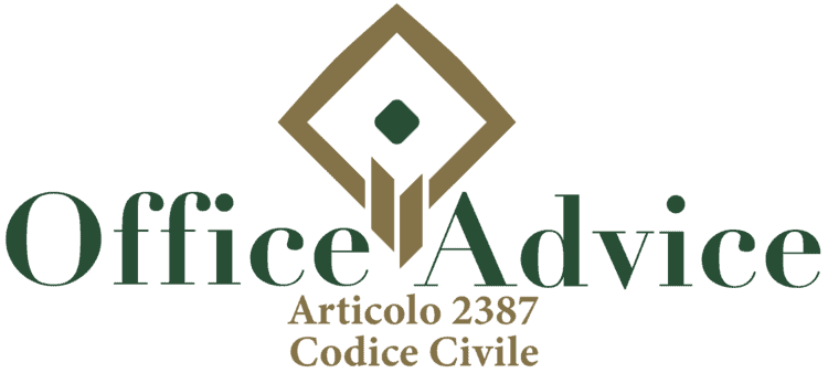 Articolo 2387 - Codice Civile