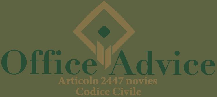 Articolo 2447 novies - Codice Civile