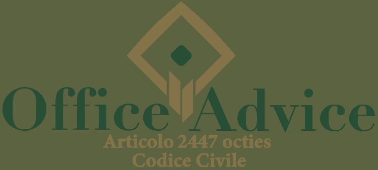 Articolo 2447 octies - Codice Civile
