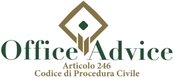 Articolo 246 - Codice di Procedura Civile
