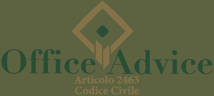 Articolo 2463 - Codice Civile