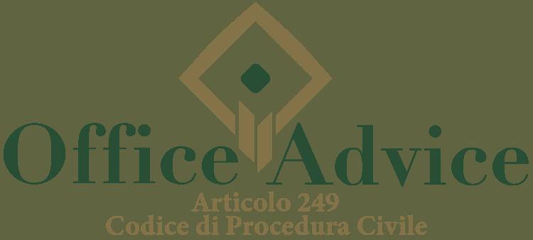 Articolo 249 - Codice di Procedura Civile