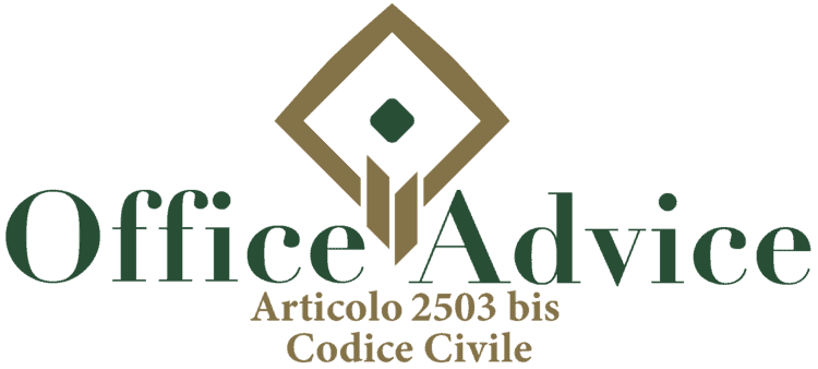Articolo 2503 bis - Codice Civile