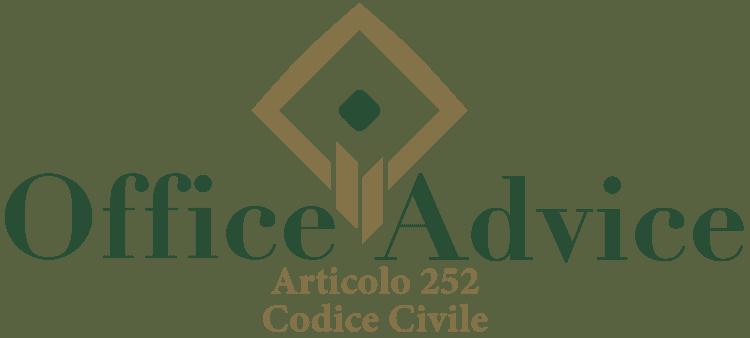 Articolo 252 - Codice Civile