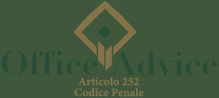 Articolo 252 - Codice Penale
