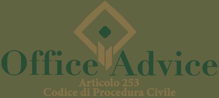 Articolo 253 - Codice di Procedura Civile