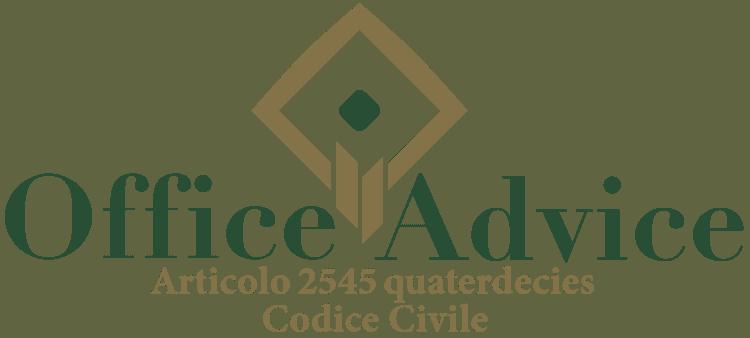 Articolo 2545 quaterdecies - Codice Civile