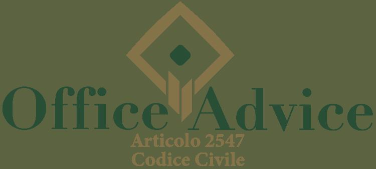 Articolo 2547 - Codice Civile