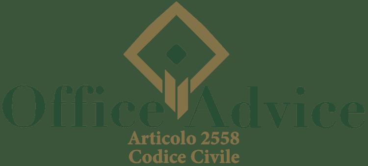 Articolo 2558 - Codice Civile