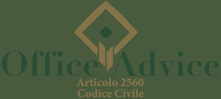 Articolo 2560 - Codice Civile
