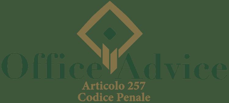 Articolo 257 - Codice Penale