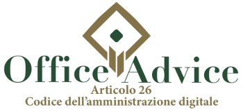 Art. 26 - codice dell'amministrazione digitale