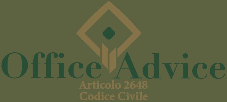 Articolo 2648 - Codice Civile