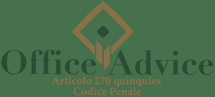 Articolo 270 quinquies - Codice Penale