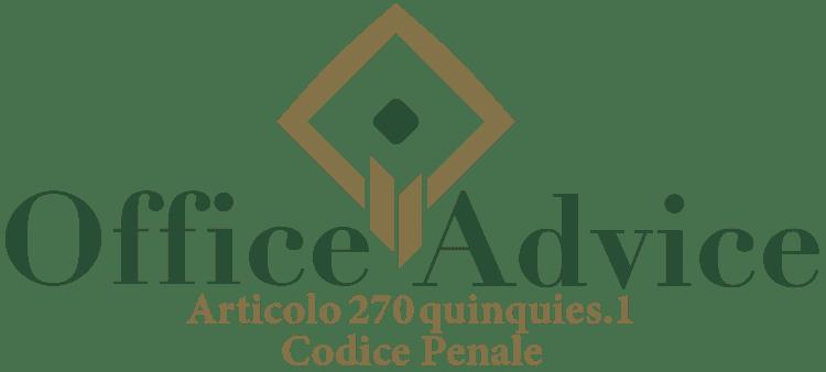 Articolo 270 quinquies 1 - Codice Penale