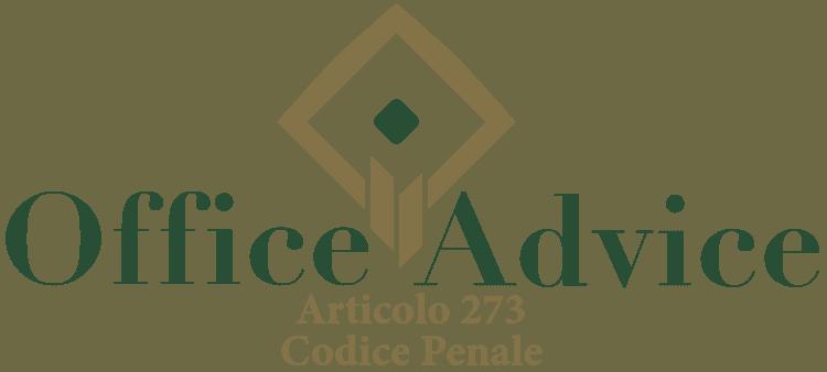 Articolo 273 - Codice Penale