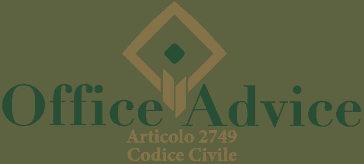 Articolo 2749 - Codice Civile