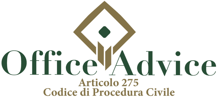 Articolo 275 - Codice di Procedura Civile