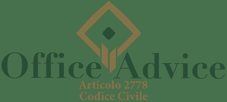 Articolo 2778 - Codice Civile