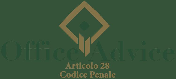 Articolo 28 - Codice Penale