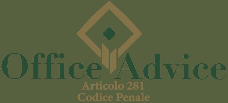Articolo 281 - Codice Penale