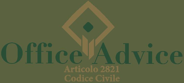 Articolo 2821 - Codice Civile